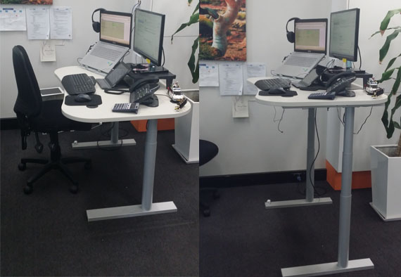 console concepts pty ltd electric height adjustable sit to stand